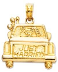 Macy's 14K Gold Charm Just Married Charm
