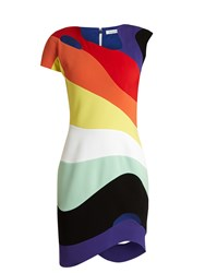 Thierry Mugler Rainbow Panel Cut Out Dress Multi