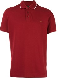 Z Zegna Short Sleeve Polo Shirt Red