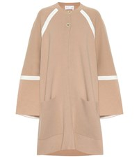 Chloe Oversized Wool And Cashmere Coat Beige