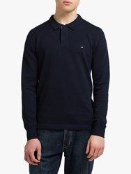 Eden Park Long Sleeve Polo Shirt Navy