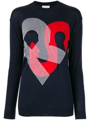 Sonia Rykiel 'Rs' Knitted Top Blue