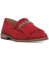 Franco Sarto Augustine Loafer Flats Women's Shoes Vintage Red