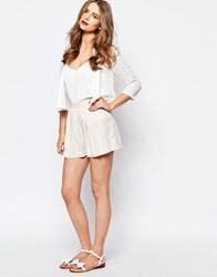 Supertrash Howie Button Shorts Nude Pink