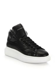 Alexander Mcqueen Quilted Leather High Top Sneakers