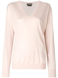 Tom Ford V Neck Sweater Pink And Purple