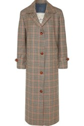 Giuliva Heritage Collection Maria Checked Wool Coat Beige