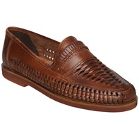 Bertie Bryant Park Woven Leather Moccasins Tan