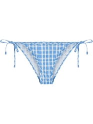 Marc By Marc Jacobs Checked Bikini Bottom Blue