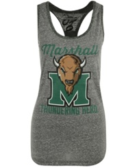 Royce Apparel Inc Women's Marshall Thundering Herd Noelle Tank Top Gray Green
