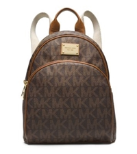 Michael Kors Jet Set Travel Logo Small Backpack Brown
