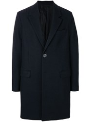 Ami Alexandre Mattiussi Two Buttons Coat Blue