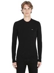 Dsquared Wool Rib Knit V Neck Sweater