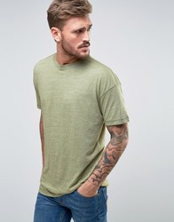 Only And Sons T Shirt With Drop Shoulder Loden Green