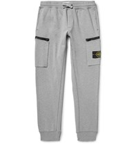 Stone Island Slim Fit Tapered Loopback Cotton Jersey Sweatpants Gray