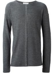 Lost And Found Exposed Seam Sweater Grey