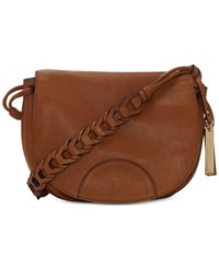 Vince Camuto Luela Flap Medium Shoulder Bag Dark Rum