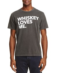 Chaser Whiskey Loves Me Graphic Tee Vintage Black