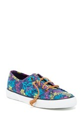 Sperry Pier View Coral Print Sneaker Blue