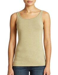 Lord And Taylor Plus Iconic Fit Slimming Tank Top Olive Drab
