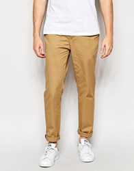 Pull And Bear Pullandbear Slim Chinos In Camel Camel