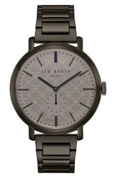 Ted Baker Men's London Trent Bracelet Watch 44Mm Brown Gunmetal