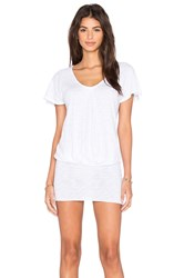 Bobi Cotton Slub Scoop Neck Tunic White