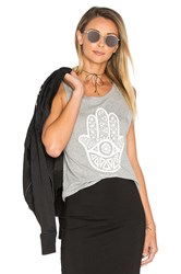 Spiritual Gangster Hamsa Eye Tank Gray