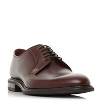 Loake Ghost Plain Derby Formal Shoes Red