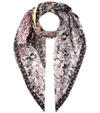 Coach Printed Cotton And Silk Scarf Multicoloured