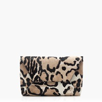 J.Crew Pre Order Collection Calf Hair Envelope Clutch Ivory Sand Leopard