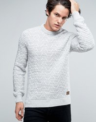 Threadbare Chunky Cable Knit Jumper White