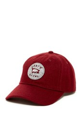 Levi's Curved Brim Baseball Cap Red