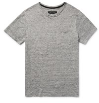 Rag And Bone Owen Melange Linen T Shirt Gray