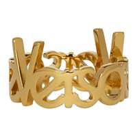 Versace Gold Logo Ring