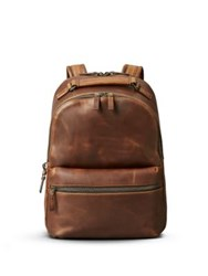 Shinola Runwell Leather Backpack Medium Brown