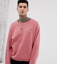 Heart And Dagger Crew Neck Sweat Pink