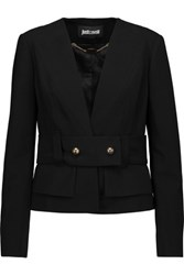 Just Cavalli Belted Crepe Blazer Black