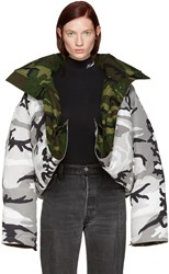 Vetements Reversible Grey Camouflage Canada Goose Edition Parka
