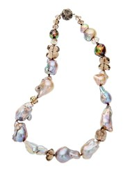 Stephen Dweck Multi Pearl And Smoky Quartz Necklace
