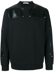 Givenchy Eco Leather Patch Sweatshirt Black