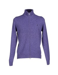Brooksfield Knitwear Cardigans Men Purple