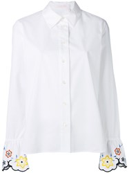 See By Chloe Embroidered Cuff Shirt White