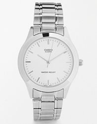 Casio Silver Stainless Steel Strap Watch Mtp1128a 7A