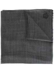 Z Zegna Frayed Edge Scarf Grey