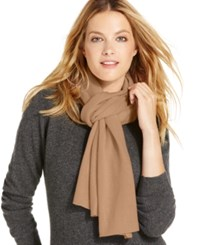Charter Club Jersey Knit Cashmere Muffler Only At Macy's Heather Camel