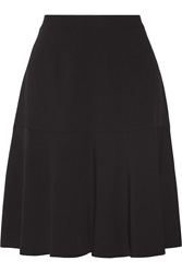 L'agence Asymmetric Crepe Skirt Black