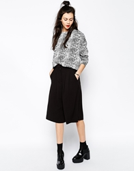 Monki Saber Culotte Trouser Black