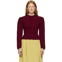 Christophe Lemaire Red Puffy Sleeves Sweater
