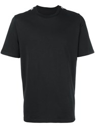 Oamc Double Ribbed Detail T Shirt Black